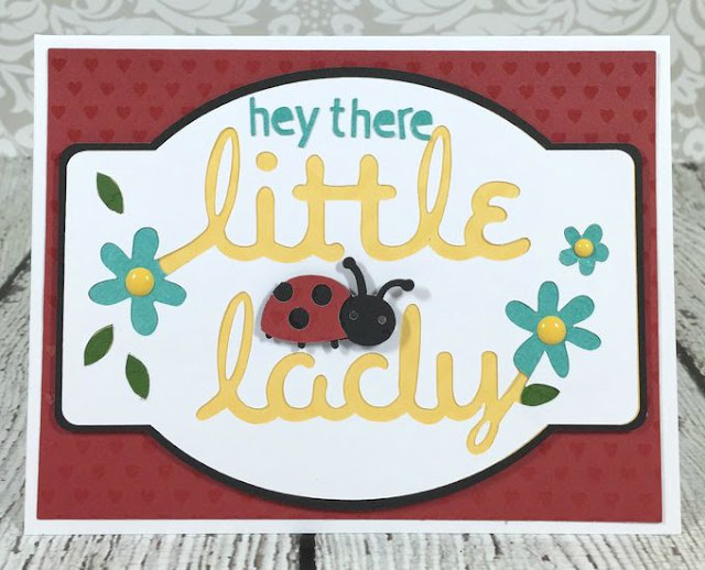 Cricut Artistry Lady bug card