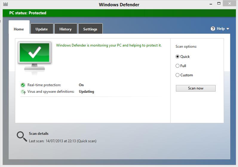 Windows Defender for Windows OS