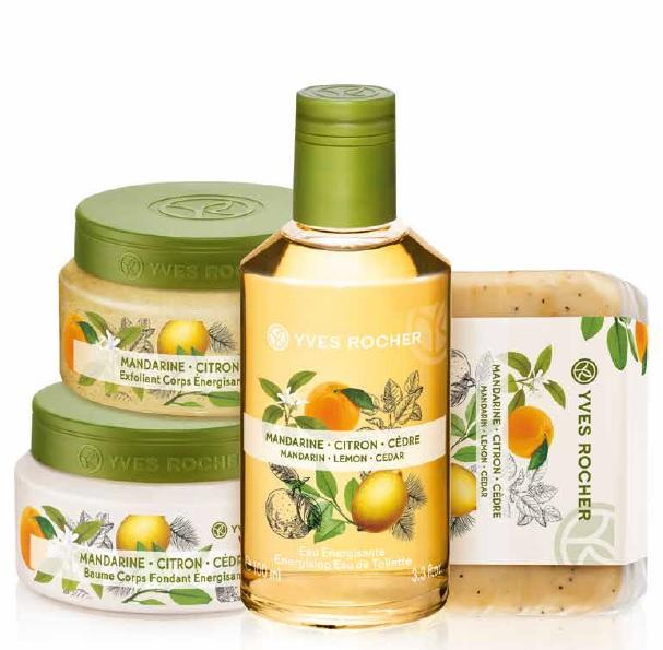 yves rocher mandarin lemon cedar