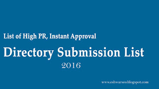 Instant Approval Directory Submission Sites List 2016