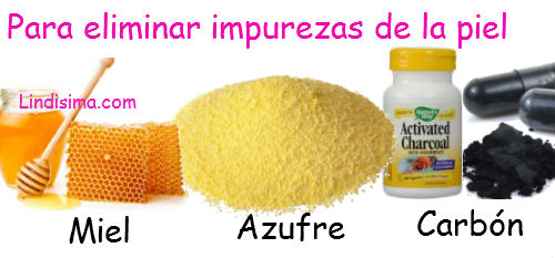 ingredientes naturales de belleza eliminar impurezas