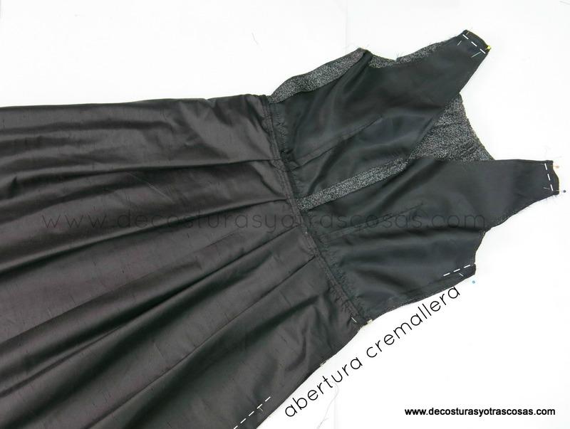 como hacer un vestido negro corto para un evento
