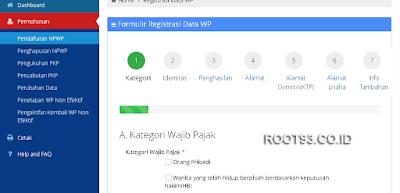 Proses pembuatan npwp secara online 7