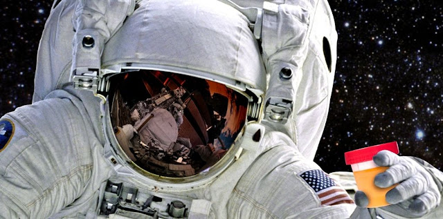 Astronauts could someday benefit from recycling human waste on long space trips (photo illustration). Credit: American Chemical Society