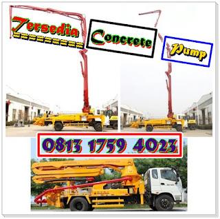 rental concrete pump per jam / per hari / dan per bulan