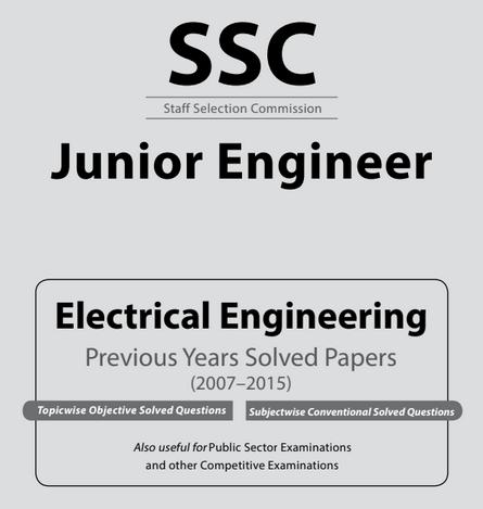 Ssc Je Electrical Engineering Previous Years Solved Papers