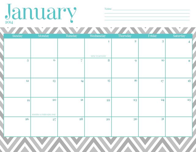 Cute Printable January 2015 Calendar | New Calendar Template Site