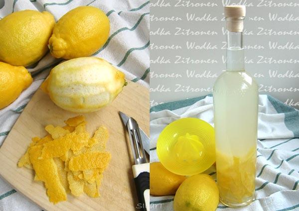 Zitronen Wodka, selbstgemacht