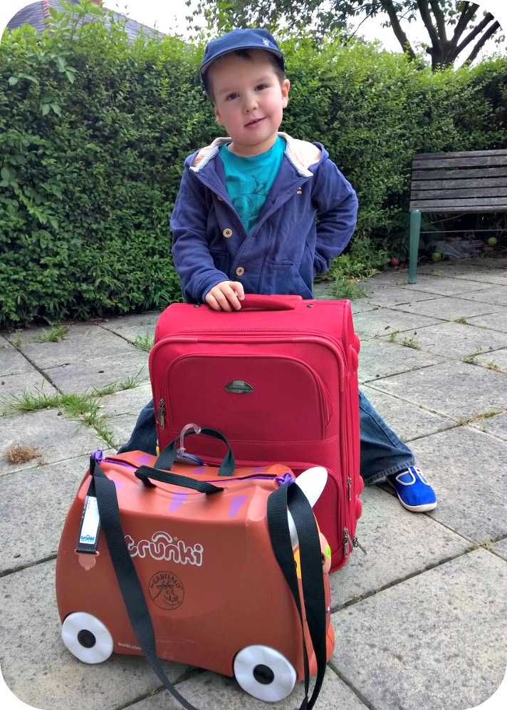 Trunki Gruffalo ready for a holiday