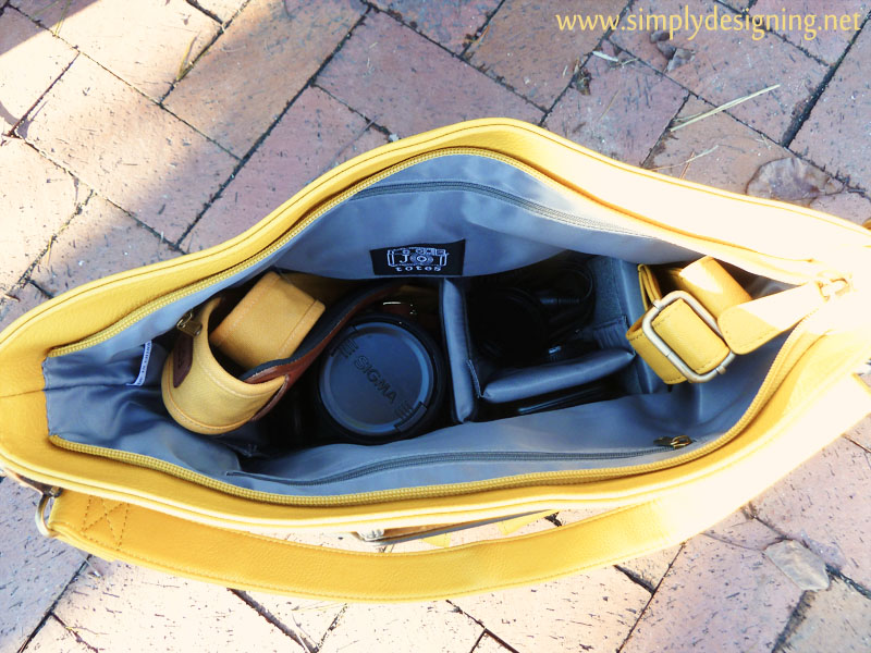 camera bag with customizable slots