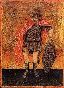Икона св. Христофора в Церкви святого Георгия в древней Вифинии, Турция Критика исторической недостоверности  Почитание в католицизме этой невероятной фигуры резко критиковалось Эразмом Роттердамским в «Похвале глупости». День поминовения Христофора был понижен Ватиканом до уровня местночтимых праздников в 1969 году из-за недостатка реальных свидетельств о его существовании. (Но вопреки распространённому заблуждению, Христофор не был деканонизирован, он все ещё остается святым католической церкви).  Хотя сохранившиеся свидетельства о его жизни переплетаются с рассказами о чудесах и явлениях, которые плохо воспринимаются современной историографией, всё же сохранилось достаточно информации, чтобы попытаться нарисовать картину его жизни, приемлемую, с точки зрения критиков, для современного человека.  Первое, на чём, по мнению критиков, спотыкаются современные агиографы — это упоминание о том, что Христофор был собакоголовым людоедом. Данная информация, по их мнению, должна быть рассмотрена с точки зрения того факта, что эти свидетельства о Христофоре даны его современниками. А для греко-римско-персидской ойкумены той эпохи практика описывать всех людей из «нецивилизованного» мира как людоедов, с звериными частями тела, или даже ещё более странно — была очень распространена, пусть даже иногда использовалась и метафорически. Более поздние поколения могли воспринять эту метафору и гиперболу как факт.