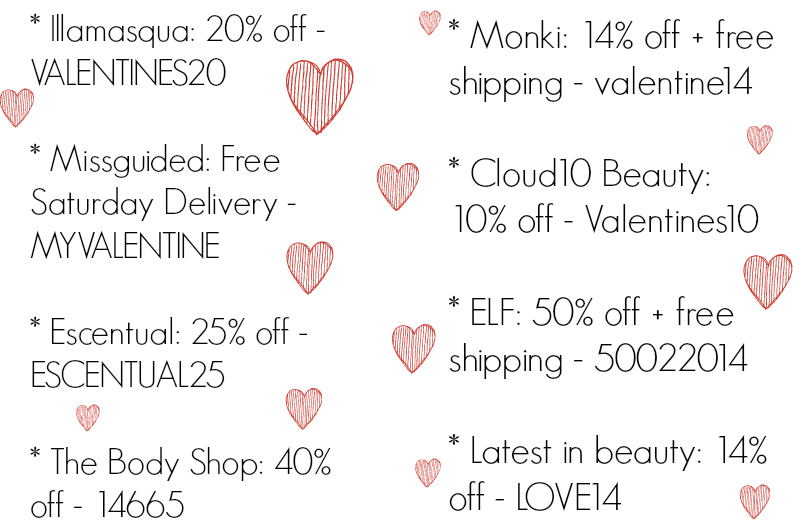 Valentines Day Codes and Offers!