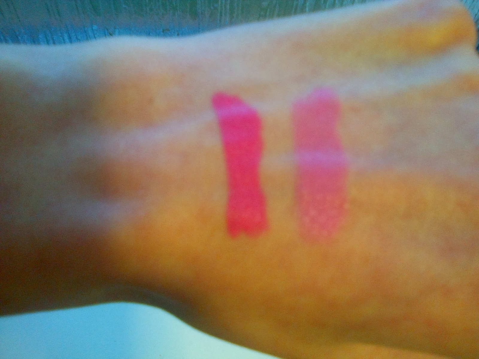 Collection Pink Shock and Bubblegum Lipstick Swatches