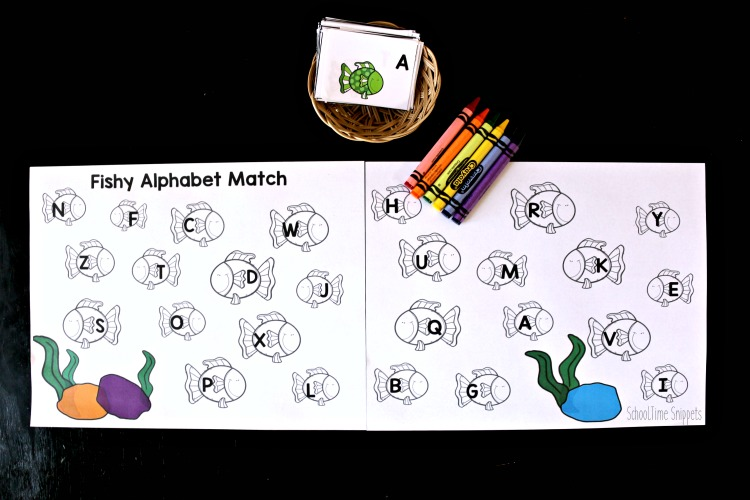 letter matching coloring worksheet