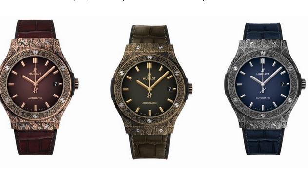 fcac8281fa0 Los tres relojes con el caso clásico famoso de la fusión 45m m. Uno de los  modelos se basa en King Gold