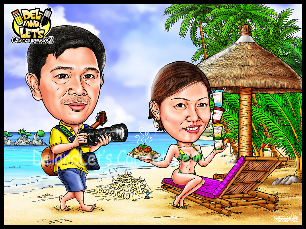 Caricatures By Delandlet S Caricaturewerkz Beach Themed