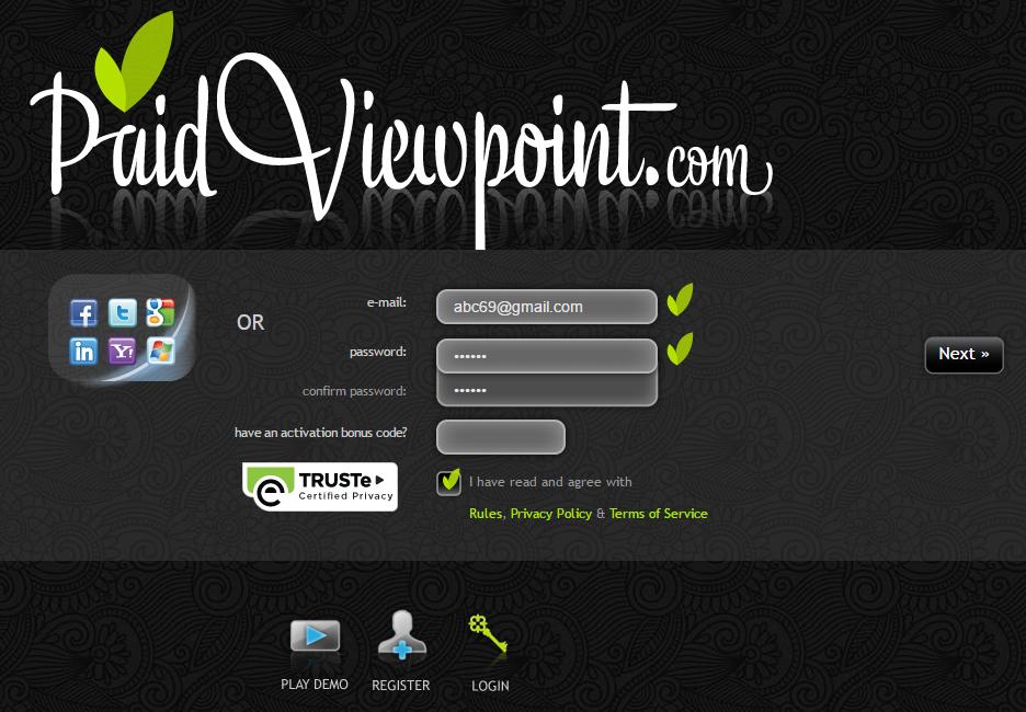 Trả lời khảo sát và kiếm tiền từ paidviewpoint