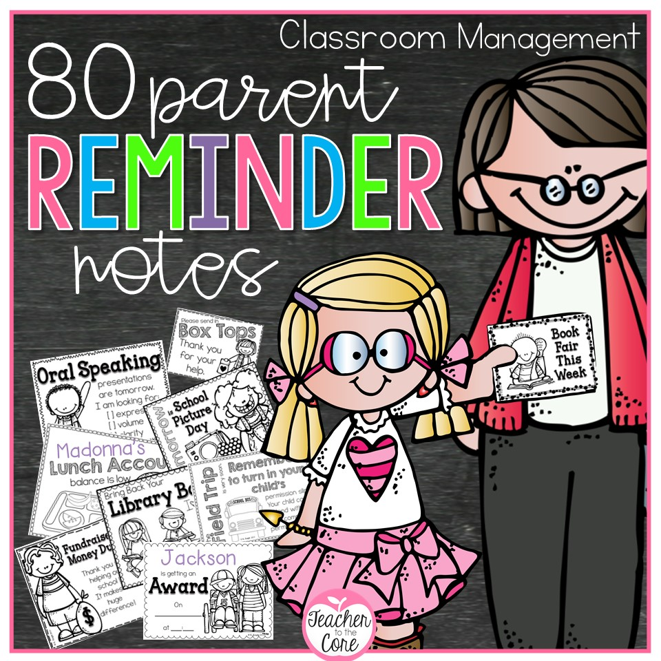 https://www.teacherspayteachers.com/Product/Parent-Reminder-Notes-787098