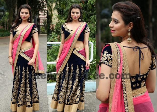 Priyanka Raman Half Saree