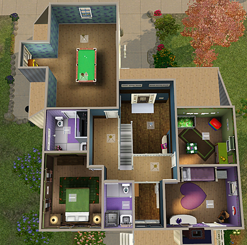 My Sims 3 Blog 4 Bedroom Bath House By Chellemh29