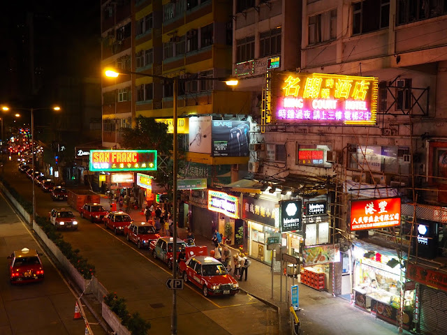 Streets of Wan Chai at night, Hong Kong