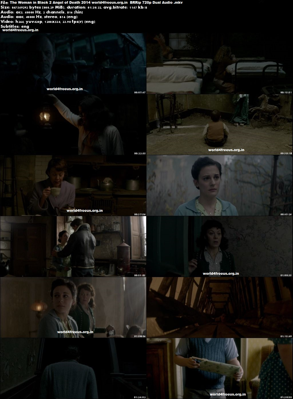 The Woman in Black 2 Angel of Death 2014 HD 720p Dual Audio