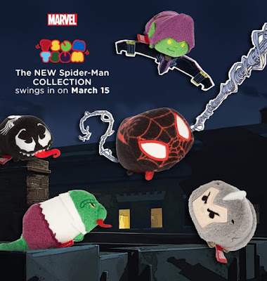 Spider-Man Tsum Tsum Marvel Plush Series 3 by Disney - Ultimate Spider-Man (Miles Morales), Green Goblin, The Lizard, Rhino & Venom