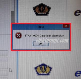 Buat File CSV Error ETAX-10004 : Data Tidak Ditemukan