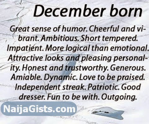 december born qualities