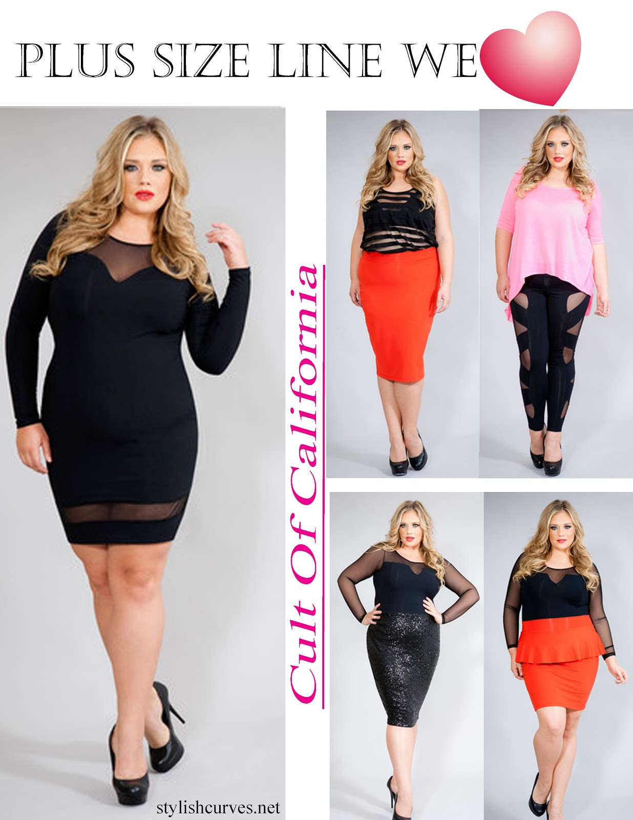 PLUS SIZE DESIGNER WE LOVE CULT OF CALIFORNIA  Stylish Curves
