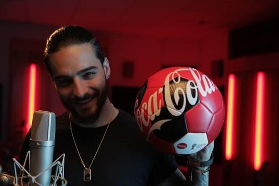 Maluma  la voz del himno de Coca-Cola para la Copa Mundial de la FIFA 2018 en América Latina