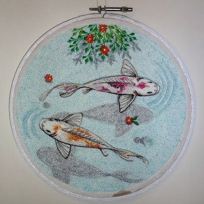 koi embroidery art
