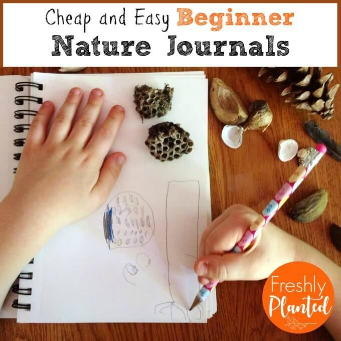 Freshlyplanted Easy Peasy Beginner Nature Journal Ideas For