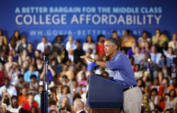 Obama Speaks About Low Income Student and College Enrollment