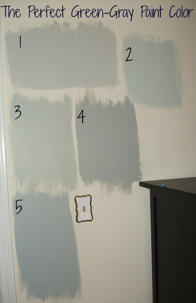 Kristinmarie Mission The Perfect Green Gray Paint Color