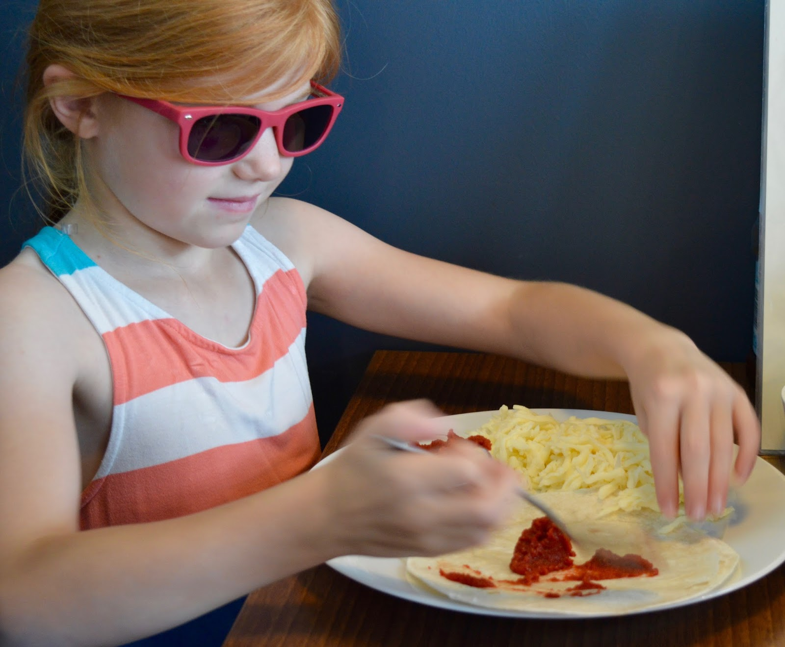 Cafe 32 | Linskill Centre, North Shields - A review - children's menu - make your own tortilla pizza