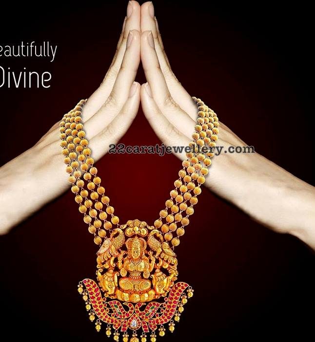 Four Layer Gold Beads Set with Lakshmi