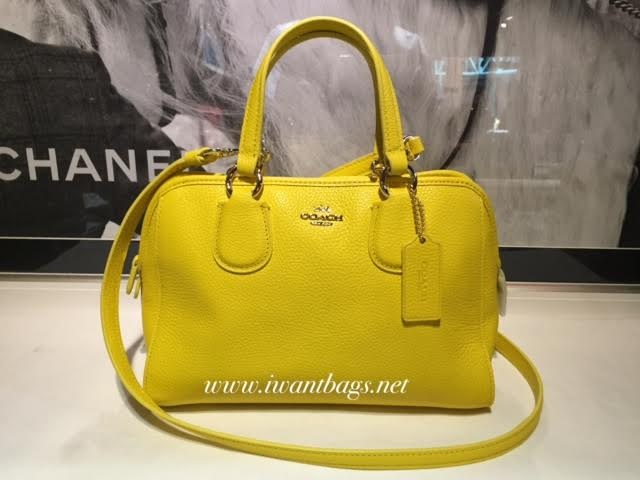 Coach 33735 Mini Nolita Satchel Bag Yellow