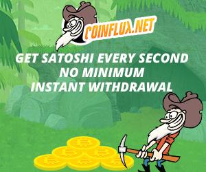 Bitcoin Gratis 72000 Satoshi Setiap Hari Dari Coinflux.Net