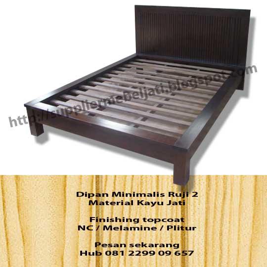 Jual Furniture Jepara Dipan Minimalis Ruji 2