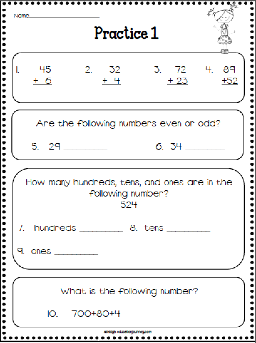 Printables Fifth Grade Math Review Worksheets math review 5th grade scalien first fifth worksheets