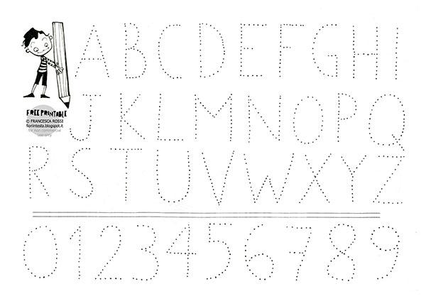 Top FIORI IN TESTA: Esercizi di scrittura free-printable: LETTERE e NUMERI RV55