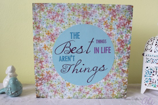 Simple and Cute Canvas Makeover