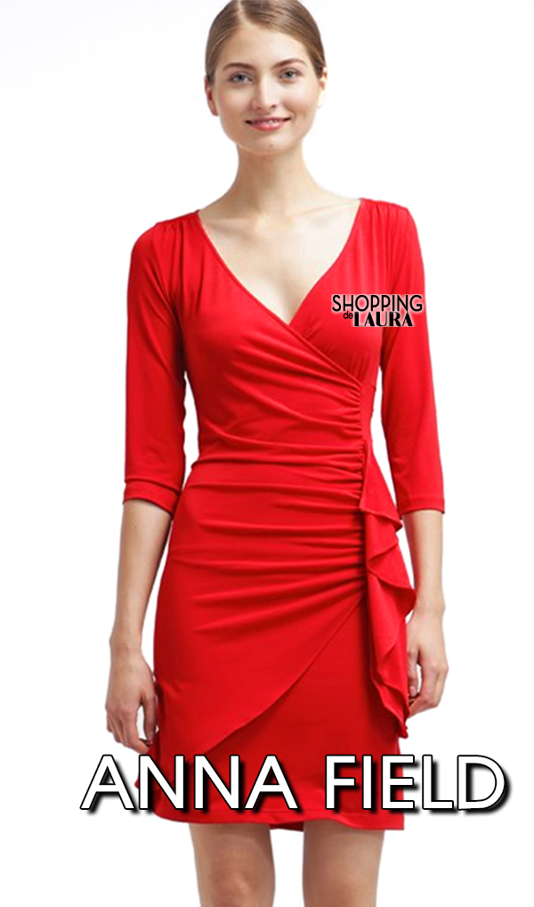 Robe rouge manches 3 4