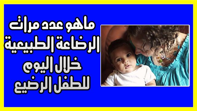 ماهو عدد مرات الرضاعة الطبيعية خلال اليوم للطفل الرضيع حصول الطفل على ما يكفي من الطعام