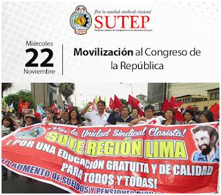Movilización al Congreso de la República