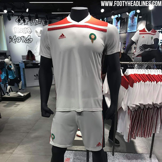 983265c8f Morocco 2018 World Cup Home   Away Kits Revealed - Footy Headlines