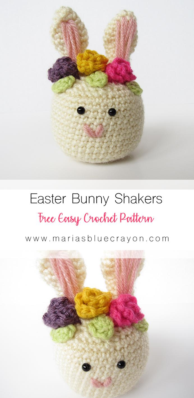 Crochet Easter Bunny Shaker - Free Pattern - Maria\'s Blue Crayon