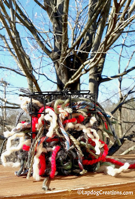 yarn upcycle knitters bird nesting materials DIY