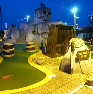 Photo of the Victory Trail minigolf course at Treasure Island Adventure Golf in Southsea